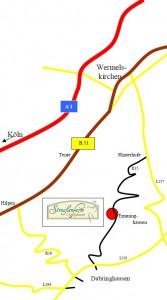 Anfahrt Straußenfarm Emminghausen
